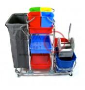 Kat Temizlik Arabası Brandalı, Temizlik Setli Krom